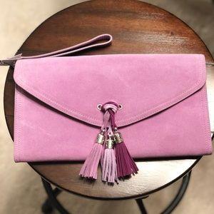 NWT WHBM lavender clutch
